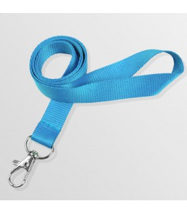 Tour de cou 20 mm mousqueton standard - polyester