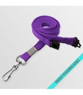 Mousqueton simple & anti-étouffement - cordon tubulaire
