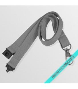 Mousqueton standard & anti-étouffement - cordon polyester
