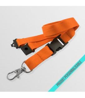 Mousqueton standard, boucle détachable & anti-étouffement - cordon polyester