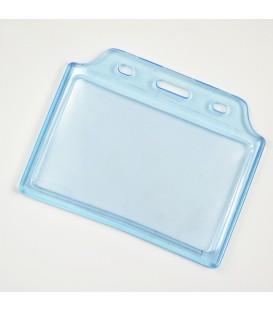 Porte-badge semi-rigide bleuté format carte bleue