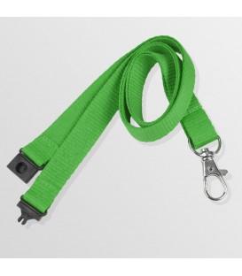 Tour de cou 15 mm, mousqueton standard et anti-étouffement - polyester