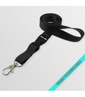 Mousqueton standard & boucle détachable - cordon polyester