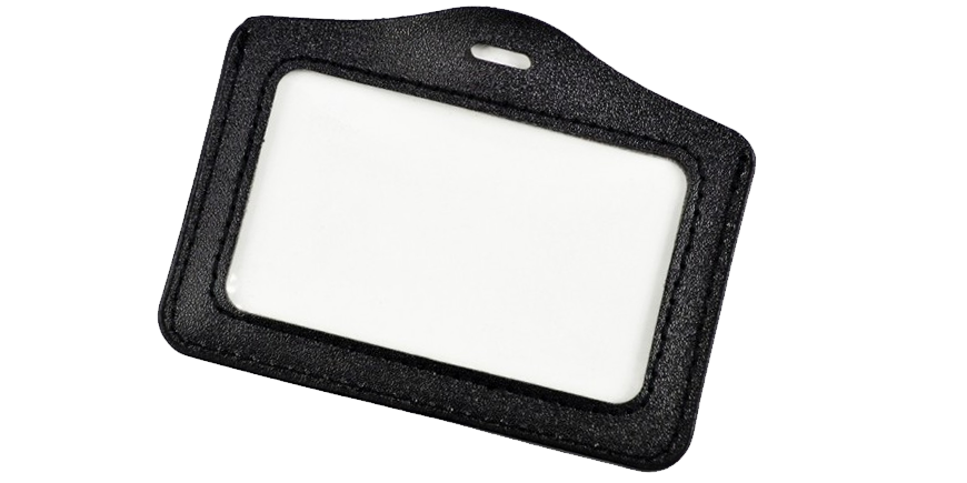 Porte badge cuir