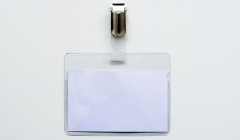 Le porte badge transparent