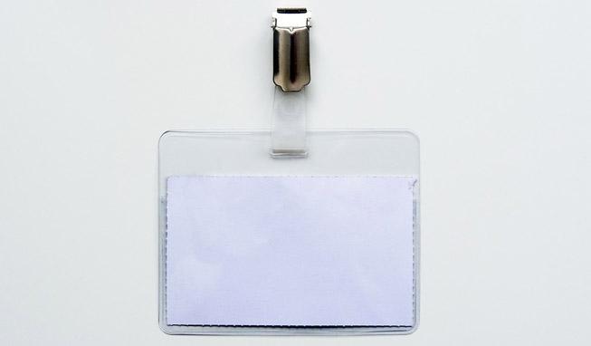 Le porte badge transparent